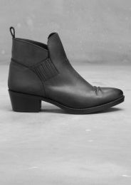 Leather ankle boots | Black | & Other Stories