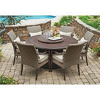 Member's Mark Fairbanks 8-Piece Fire Pit Dining Set - Sam's Club