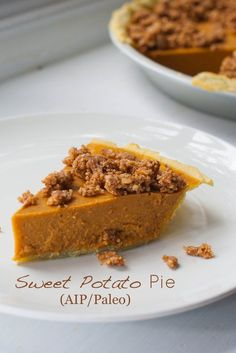 Sweet Potato Pie (AIP/Paleo)