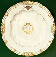 Which First Lady helped choose the first china to use the American shield? Presidential Trivia, Presidential History, Porcelain Dinnerware, China Porcelain, American Presidents, American History, First Lady Of America, White House Washington Dc, James Monroe