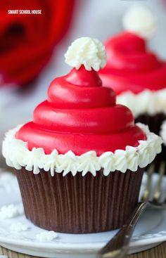 DIY Santa cupcakes!