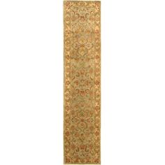 Safavieh Handmade Heritage Kermansha Green/ Gold Wool Runner (2'3 x 10') - Overstock™ Shopping - Great Deals on Safavieh Runner Rugs
