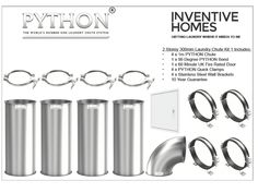 Python Laundry Chute - 2 Storey House Kit 1