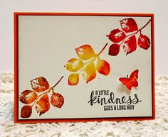 Watercolor Leaves from Kinda Eclectic Stampin' Up!