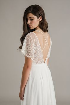 Sally Eagle's Julia wedding dress from her bridal collection Dream dress Dream Wedding Dresses, Designer Wedding Dresses, Bridal Dresses, Wedding Gowns, Wedding Lace, Unique Wedding Dress, Indie Wedding Dress, Trendy Wedding, Wedding Bride