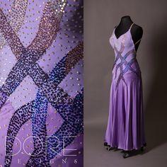 Purple Smooth w/ Multi Color Stones