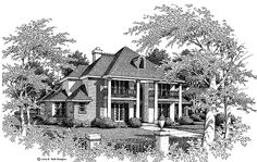 Eplans NeoClassical House Plan - New Angles - 3638 Square Feet and 4 Bedrooms(s) from Eplans - House Plan Code HWEPL01139