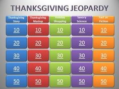 This is a Jeopardy-themed game for Thanksgiving. It runs via Microsoft PowerPoint. It is geared toward 3rd grade standards and includes 25 questions...