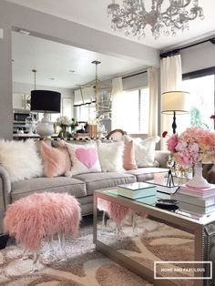 Isn't this pink furry bench from Home Goods to die for?! It's perfect for Valentines Day! Don't worry, you can still use it after V Day It's that fabulous! (Sponsored pin)