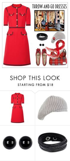 """""""Don't you have time to think - just go in your dress"""" by m-kints ❤ liked on Polyvore featuring Gucci, Miss Selfridge, Candela, Swarovski, Cartier and easydresses"""