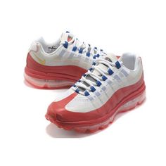 Special Offer Nike Air Max 95 + 360 White/Red-Mineral Blue Women Running
