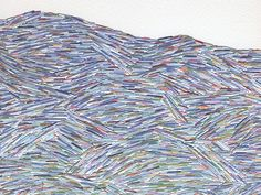 Good design makes me happy: Emily Barletta Stitching On Paper, Hand Stitching, Hand Embroidery Stitches, Embroidery Thread, Contemporary Embroidery, Contemporary Art, Splash Images, Textiles, Textile Artists