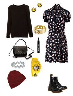 Grunge 2 by lj-case on Polyvore featuring polyvore, fashion, style, Juicy Couture, Topshop, Dr. Martens, Friis & Company, Flud Watches, Miss Wax, NLY Accessories, Zoe & Morgan, Patagonia, Ardency Inn and clothing