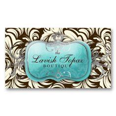 311-Lavish Topaz | Brown  Cream Business Card Templates