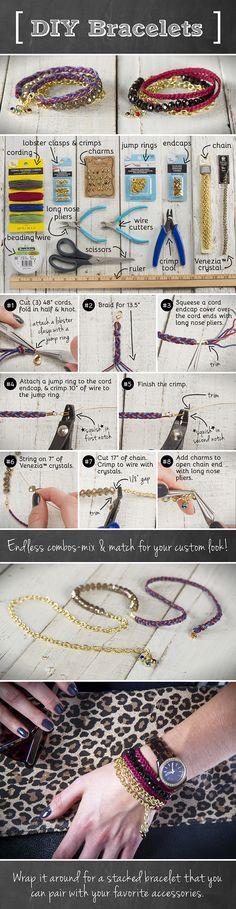 DIY bracelet | DIY armband | www.bykaro.nl voor kralen, bedels en meer...