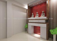 Johor Bahru (JB) Altar Bukit indah Altar 3d Design - Altar Cabinet Design from Green Home Interior Design