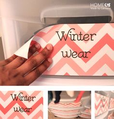 IHeart Organizing: Reader Space: A Pretty & Practical Girl's Closet -decorate plastic storage drawers. Spring Cleaning Organization, Craft Organization, Organizing, Bathroom Organization, Classroom Organization, Store Purses, Plastic Storage Drawers, Family Closet, Sewing Room Storage