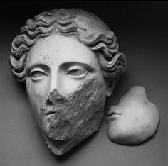 classical sculpture, Demetra da Ercolano, photography, Mimmo Jodice