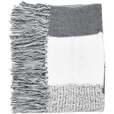 TOPSHOP Mix Stitch Tassel Scarf (€49) ❤ liked on Polyvore featuring accessories, scarves, fillers, grey, gray scarves, gray shawl, grey shawl, topshop and grey scarves