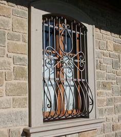 Home Window Grill Design, Window Design, Iron Windows, Windows And Doors, Steel Railing Design, Window Protection, Power Hammer, Copper Paint, Iron Art