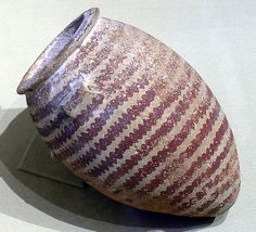 Decorated ware jar with wavy bands Period: Predynastic, Naqada II Date: ca. 3500–3300 B.C. Geography: Country of Origin Egypt Medium: Potter...