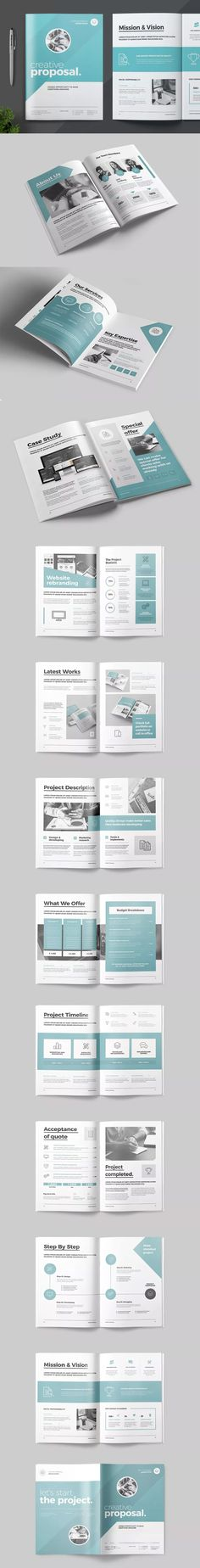 Professional Clean Proposal Templates - 22 Pages - INDD, PDF - proposal templates