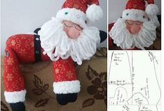 Aprende con Sara: Moldes para hacer a papá Noel Recostado Christmas Animals, Christmas Stockings, Diy And Crafts, Santa, Teddy Bear, Dolls, Holiday Decor, Home Decor, Christmas Patterns