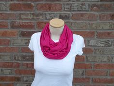 Pink Scarf Spring Fashion Hot Pink Scarf Light Weight Scarf Infinity Scarf Teen Fashion Womens Scarf Soft Scarf Summer Scarf Spring Scarf by foreverandrea on Etsy