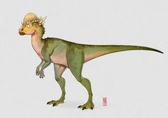 Pachycephalosaurus, Alberto Camara on ArtStation at https://www.artstation.com/artwork/o24qm