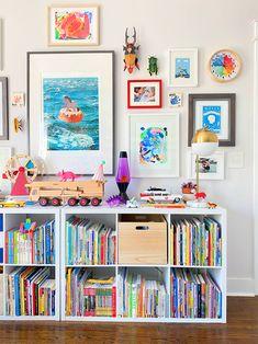The Secret Ingredients to This Nashville Home: Bold Kids Art and IKEA Ribba Frames Art Wall Kids, Art For Kids, Kid Art, Co Design, House Design, Ikea Expedit, Ribba Frame, Ikea Kids, Kids Decor