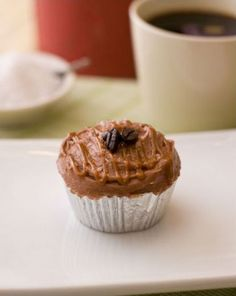 Caramel Mocha Sea Salt Cupcakes (use the icing with the Beatty's cake recipe)