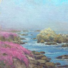 Donald Neff - Misty Monterey, 6x6, oil on board, $250