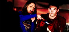 SuperFlash Fanfiction - The power couple is fun! Supergirl Cat Grant, Supergirl And Flash, Supergirl Crossover, Flash Funny, Crossover Episodes, The Flash Grant Gustin, Dc Heroes, Marvel Dc Comics, Dc Universe