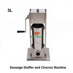 Commercial Manual Stainless Steel 3L Hand Crank Vertical Sausage Filler Stuffer and Churros Maker Machine