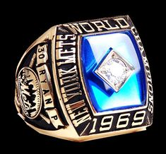 Rings That Bling – 1969 New York Mets World Series Ring World Series Rings, Mlb World Series, New York Mets Baseball, Baseball Odds, My Mets, Lets Go Mets, Shea Stadium, Championship Rings, Class Ring