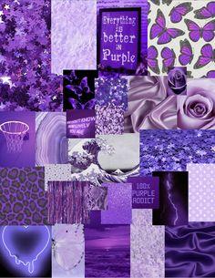 Purple collage💜👿💟☔️☮️♉️🟪🟣