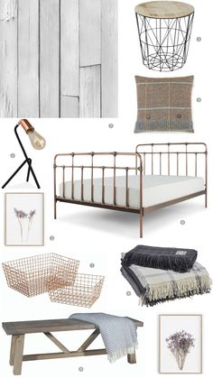 A Simple Country Style Bedroom and How to Get The Look
