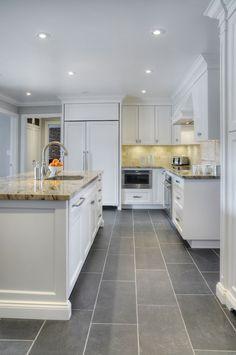 Best 15 Slate Floor Tile Kitchen Ideas White Kitchen Cabinets