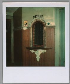 Walker EVANS :: Ticket Window, Kingston Station, Rhode Island, 1973-74 [20 years later...]