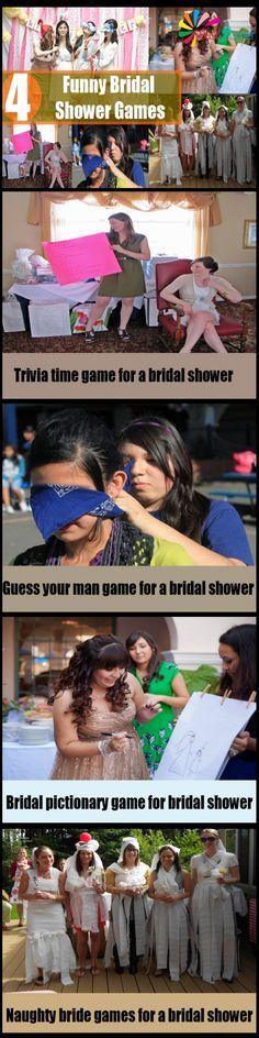 4 Funny Bridal Shower Games
