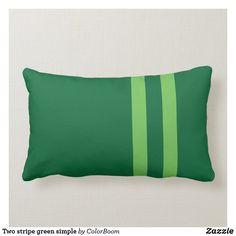 Two stripe green simple lumbar pillow Lumbar Pillow, Throw Pillows, Green Cushions, Green Home Decor, Party Hats, Custom Pillows, Emerald Green, Knitted Fabric, Art Pieces