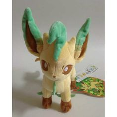 Pokemon Center 2012 Eevee Collection Leafeon Standing Plush Toy