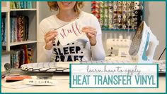 I'm excited to walk you through how to apply Heat Transfer Vinyl, step-by-step video tutorial instructions