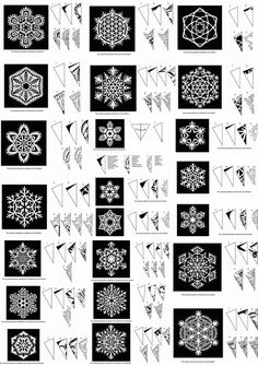 I will be needing lots of snowflake. If anyone would like to start making snowflakes for our VBS ICE Kingdom (In Christ Everlasting) I would love you forever. W (Pour Art For Kids)Snowflake Patterns by sara esterHow to cut beautiful snowflakes! Paper Snowflake Patterns, Paper Snowflakes, Christmas Snowflakes, Christmas Holidays, Christmas Decorations, Snowflake Craft, Paper Snowflake Template, Snowflake Cutouts, How To Make Snowflakes