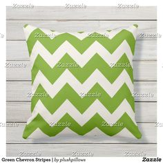 Green Chevron Stripes | Throw Pillow Lime Green Cushions, Green Pillows, Bed Pillows, Green Chevron, Decorative Cushions, Shades Of Green, Green Colors, Stripes, Nice