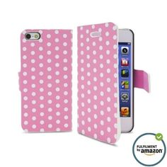 iPhone 5 Wallet Case with Unique Dot Folio Design and soft microfiber inside for Apple iPhone 5 and iPhone 5S with free cleaner (PINK) IPHONECASES.ME http://www.amazon.com/dp/B00HM9W1XQ/ref=cm_sw_r_pi_dp_p1Xwub05BPT1F