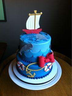 Amazing Nautical Themed Shower Cake