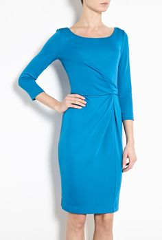 Gather Waist Jersey Dress by Philosophy di Alberta Ferretti Built In Wardrobe, Alberta Ferretti, Philosophy, Cold Shoulder Dress, Dresses With Sleeves, Building, Long Sleeve, Clothes, Fashion