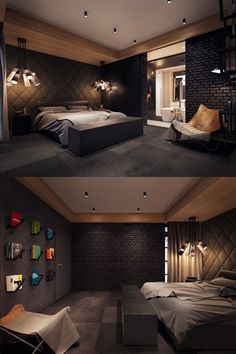 Dark Bedroom Colors - Find Out How To Design Your Own In . - Dark Bedroom Colors – Finding out how to design your own interior is one thing, but for some reas - Modern Bedroom Design, Home Room Design, Master Bedroom Design, Home Decor Bedroom, Home Interior Design, House Design, Bedroom Designs, Bedroom Ideas, Modern Mens Bedroom