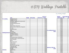 Wedding Budget Spreadsheet  Wedding Budget Spreadsheet Weddings